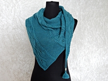 Knitting pattern shawl Minas Tirith