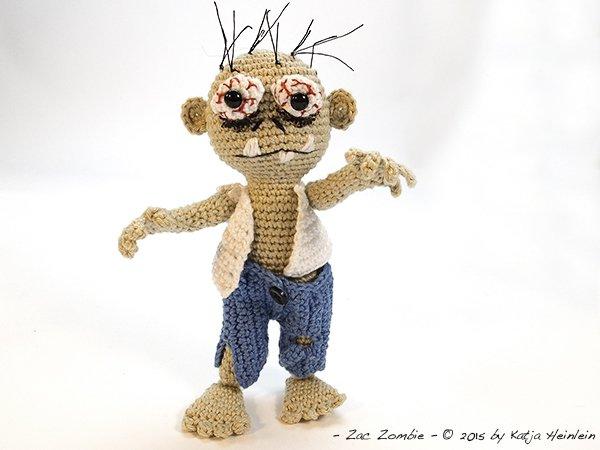 Halloween Zombies: Crochet Pattern Roundup! - AmVaBe Crochet | 450x600