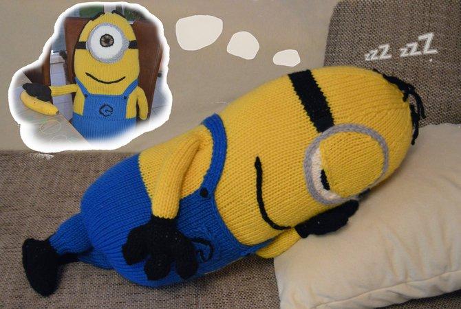 Schlaf Gut Minion Tag Und Nacht Minion Nackenrolle Kissen