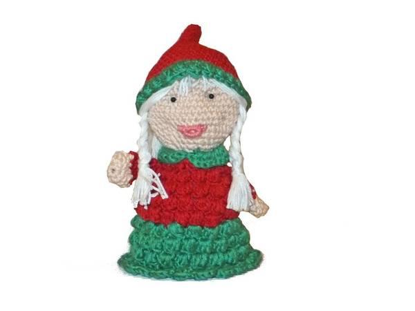 Tiny Crochet Doll Patterns : Miss Santa - sweet Amigurumi - english crochet pattern