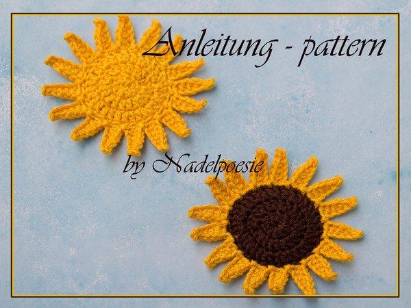 Anleitung Sonnenblume Und Sonne
