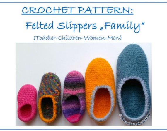 "Pattern ""Felted slippers ""Family"""