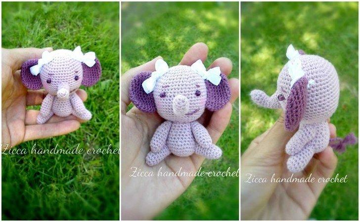 Crochet Elephant Amigurumi Easy Video Instructions | 450x728
