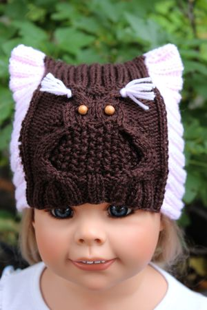 Owl Hat Knitting Pattern