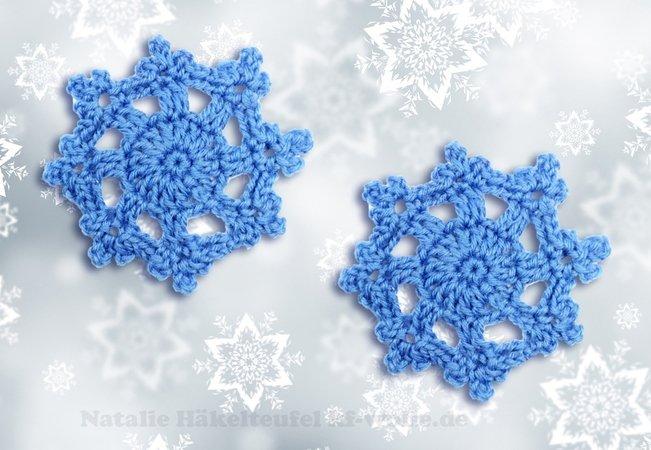 Schneekristalle Häkeln Schneeflocken Häkeln