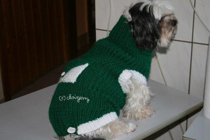 Strickanleitung Hundemantel Hundepullover Beany Gr Xl