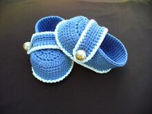 Baby Boy Booties Crochet Pattern