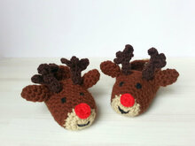 "Children Slippers ""Rudolph the Red-Nosed Reindeer"""