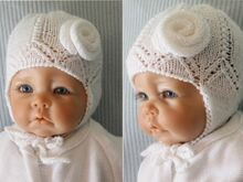 "Baby Hat ""Rose"" Knitting Pattern"