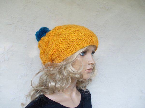 Knitting Patterns For Cute Hats : knit pattern for a cap/hat, cute women hat, slouchy ...