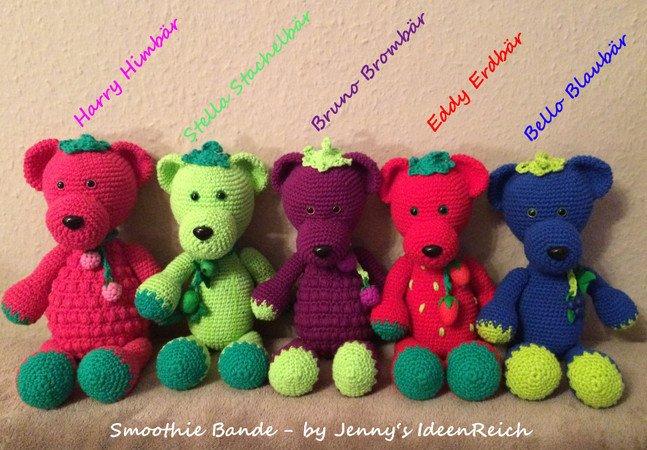 Häkelanleitung Smoothie Bande 5 Teddys Häkeln