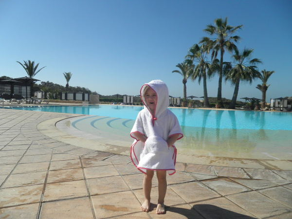 FRANZIs bathing poncho / hooded bath towel pattern, sizes 62-104 / 6 mo.- 4/5 yrs.