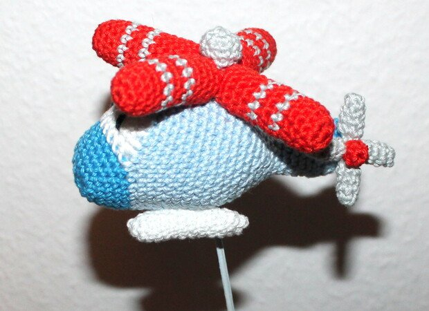 rattle grab toy helicopter crochet pattern