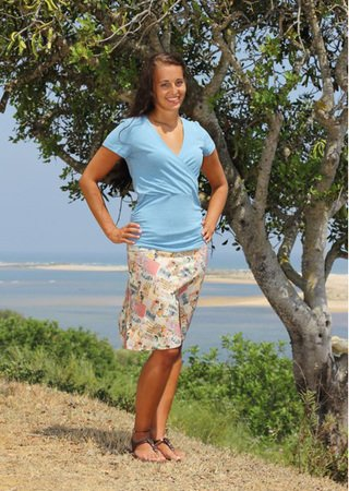 GINAs jersey skirt pattern, sizes 158 – women´s 46 / Kids M – women´s L