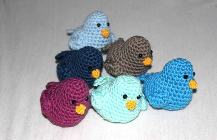 E-Book decoration birds crochet