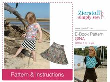 GINAs jersey skirt pattern, sizes 62-104 / 6 mo. – 4/5 yrs.