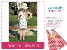 LIESELOTTEs dress pattern, sizes 110-152 / 5-12 yrs.