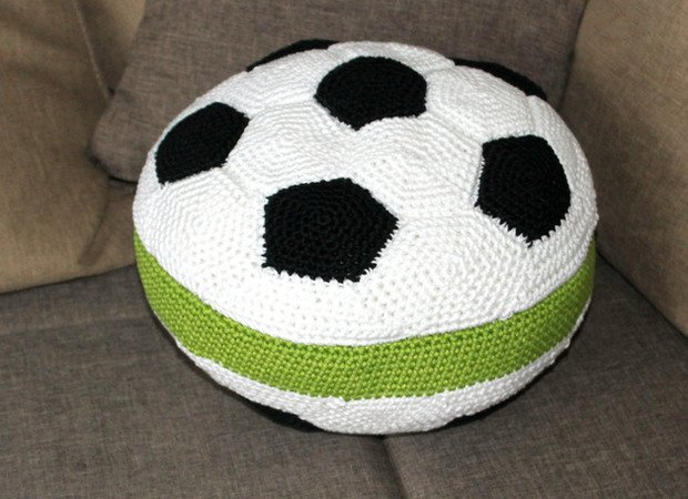 Football pillow crochet pattern