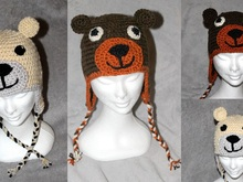 teddie and icebears hat in three different sizes (18, 20 and more than 22 inches) crochet pattern