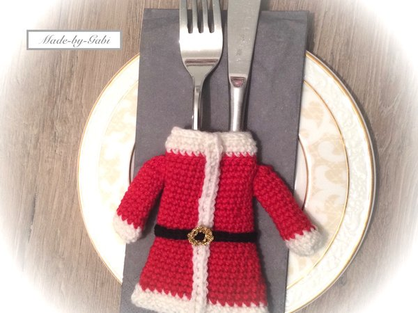 Weihnachtsdeko Häkeln Bestecktasche Häkeln