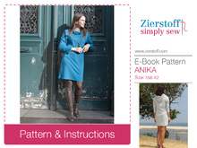 ANIKAs dress pattern – pattern & E-Book, sizes 158 – women´s 42 / Kids M – women´s M