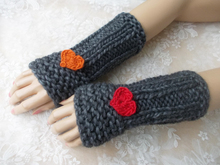 Cute cuffs, knit pattern, quick and easy, unisex, gift