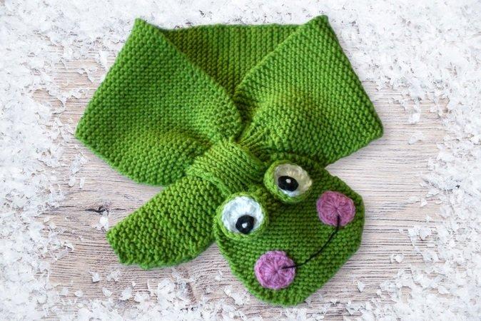 Babyschal stricken - süße Tiermotive