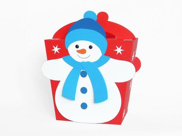 Geschenktasche mit schneemann bastelvorlagen mit anleitung - Bastelvorlagen fensterbilder ...