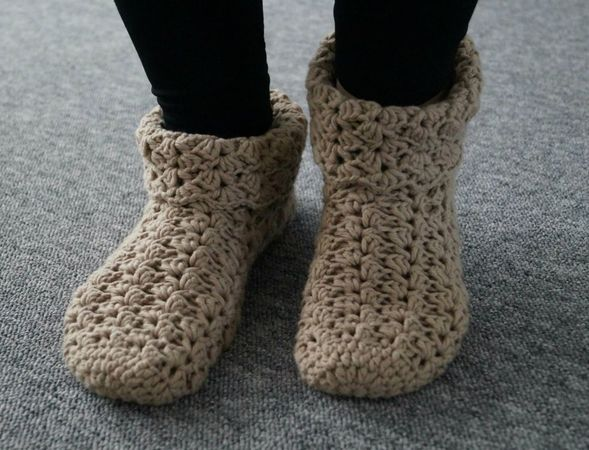 Crochet Slippers. Size 6-13