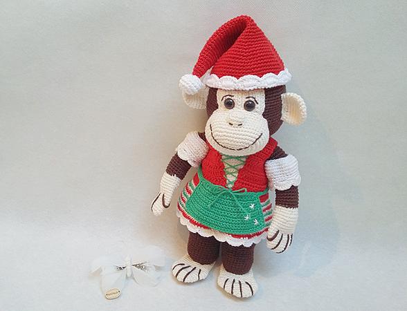 Sparset: Affe++Dirndl++Weihnachtsmütze häkeln