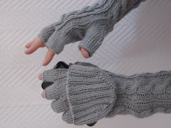 Handschuhe stricken // 2 in einem / praktisch