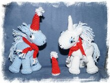 Crochet pattern: Unicorn Santa + Claus
