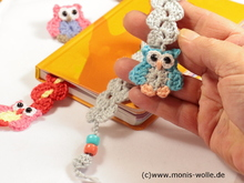 "Crochet instruction - Bookmark owl ""Minchen"" gift idea"