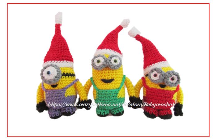 Weihnachten Häkelanleitung für Anfänger Minion Ü-Eier