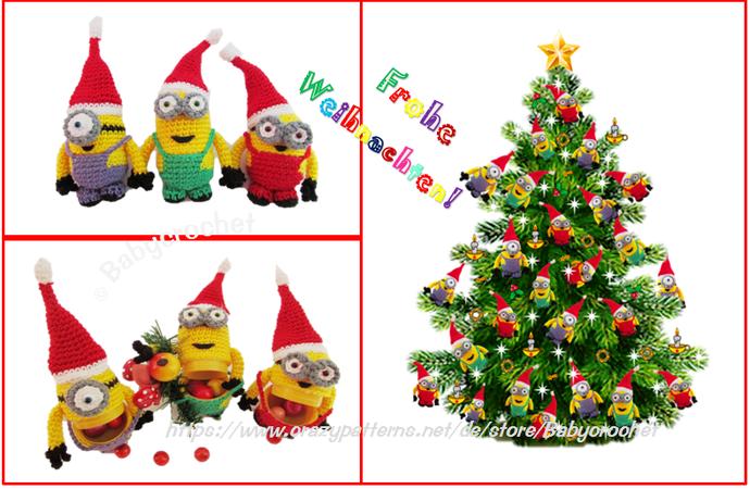 Frohe Weihnachten Minions.Weihnachten Häkelanleitung Für Anfänger Minion ü Eier