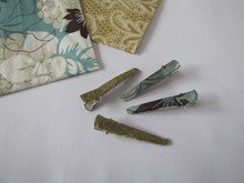 DIY - Haarklammern mit Serviettentechnik / Hairclips with decoupage
