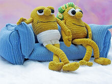 crochet pattern couch potatoes by Katja Heinlein pdf file amigurumi tutorial food ebook file batata veg deco