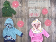 E-Book Babyhoodie P#1 Gr. 56 - 92 in 3 Versionen