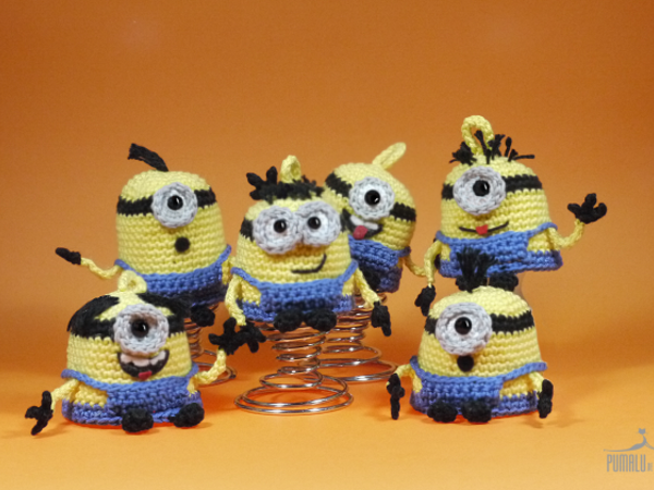 Lustige Minions Adventskalender Häkelanleitung