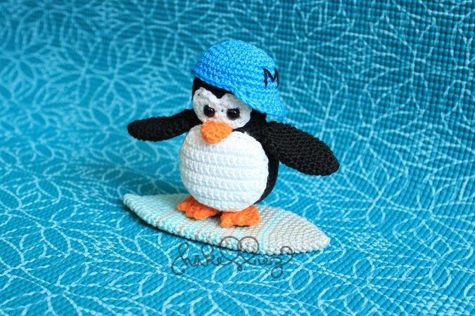 Pinguin Häkeln Mit Surfbrett Gleich Dazu