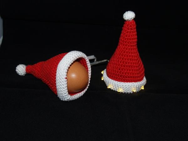 Eierwärmer Mit Lichtweihnachten Nikolausmütze Mit Licht