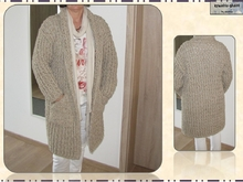 Crochet Coat - for Beginners - Size L / EU 42, Pattern