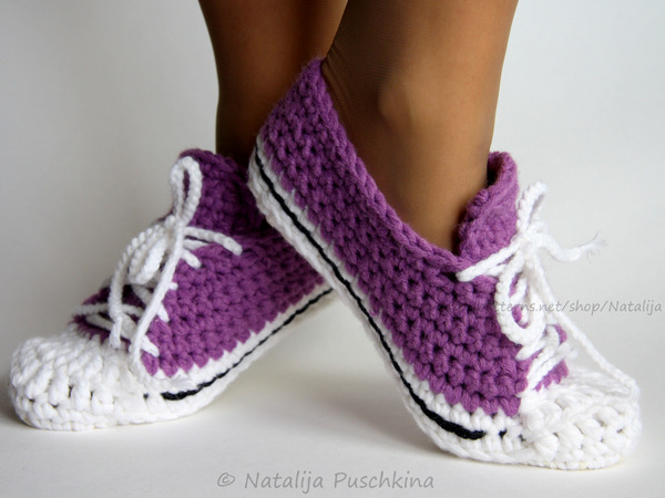 Crochet pattern for warm socks - easy pattern