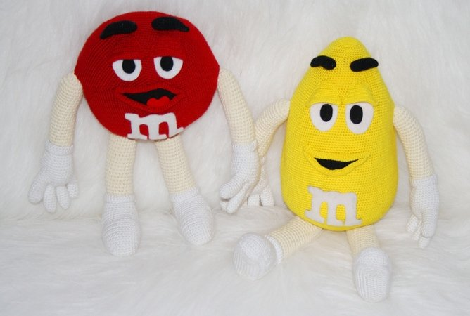 M&M Candy yellow and red!