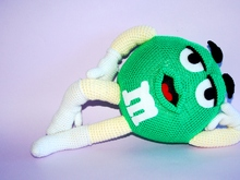 M&M Green Crochet Pattern