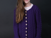 Anael - Romantic Cardigan for Girls Children - sizes 98-140 (EU) resp. 3-10 (US)
