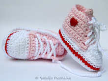 Baby Booties - Tennis shoes Crochet pattern with photos