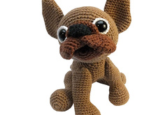 PDF crochet pattern animal tutorial file french bulldog amigurumi