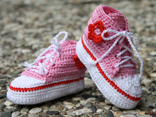 Cute Baby Tennis shoes  - Crochet Pattern - boy or girl