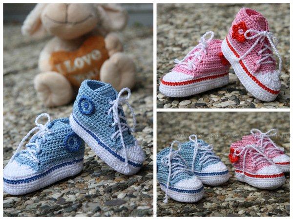 baby tennis shoes crochet pattern boy or